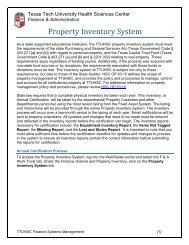 Property Inventory System - TTUHSC :: Finance & Administration