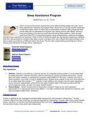 Sleep Assistance Supplement Program - True-Wellness