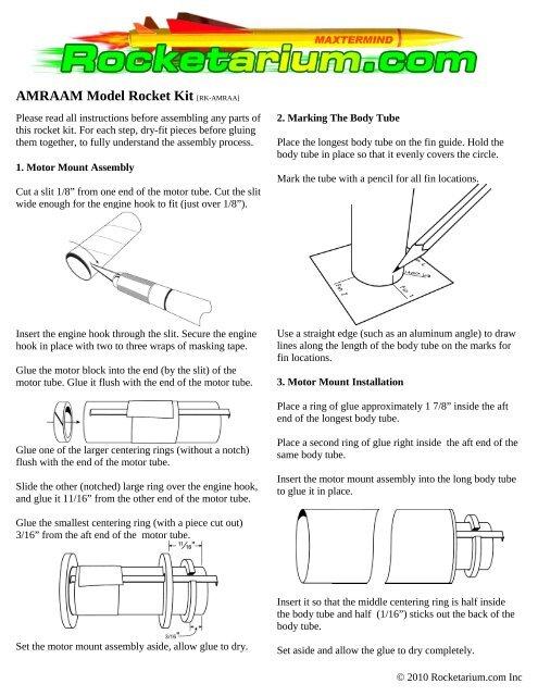 AMRAAM Model Rocket Kit [RK-AMRAA] - Rocket and Engine Store