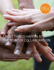 Great thinGS happen at the point of Collaboration - PGi