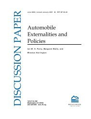 Automobile Externalities and Policies - Resources for the Future