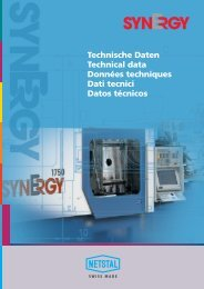Technische Daten Technical data Données techniques Dati ... - Netstal