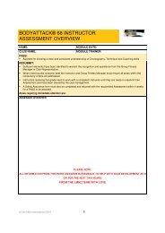 bodyattack® 68 instructor assessment overview - Les Mills