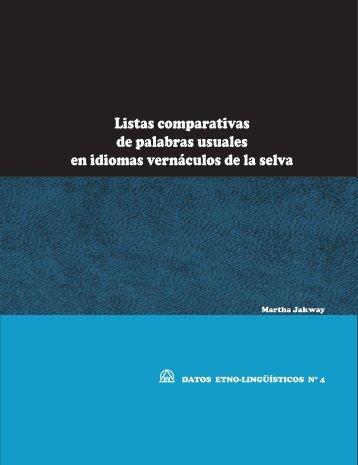 Listas comparativas de palabras usuales en idiomas ... - Sil.org