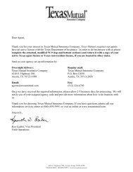Dear Agent - Texas Mutual Insurance Company