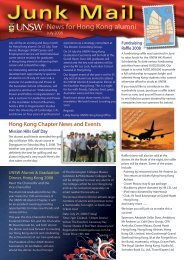 News for Hong Kong alumni - UNSW Global Pty Limited