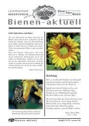 Bienen-aktuell Nr 59.indd - Liechtensteiner Imkerverein