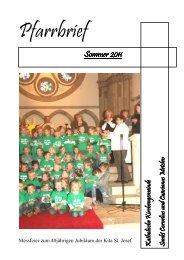 Sommerpfarrbrief 2011 - Kath. Kirche Metelen