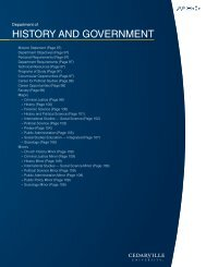 Department of History anD Government - Cedarville University