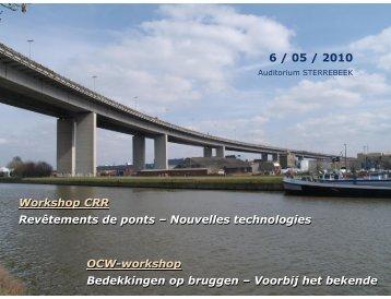 Workshop CRR Revêtements de ponts – Nouvelles technologies ...