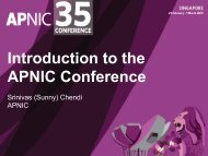 Introduction to APNIC 35 - APNIC Conferences