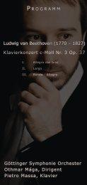 Ludwig van Beethoven (1770 – 1827) Klavierkonzert c-Moll Nr. 3 Op ...