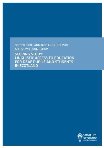 British Sign Language and Linguistic Access Working Group ...