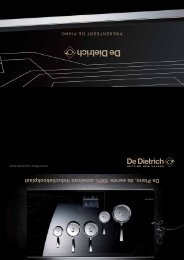 De Piano, de eerste 100% zoneloze inductiekookplaat - De Dietrich