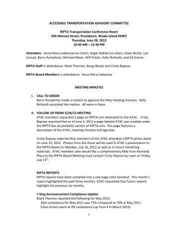 ATAC Meeting Minutes 6-28-12 - ripta