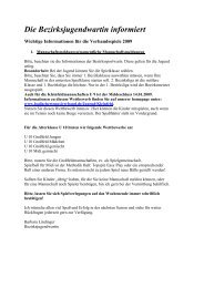 Die Bezirksjugendwartin informiert - Tennisclub Lahr e.V.