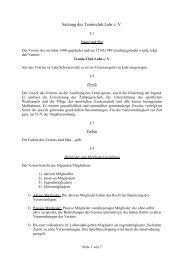 Satzung_des_TC Lahr - Tennisclub Lahr e.V.