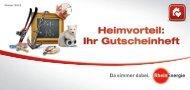 Heimvorteil: Ihr Gutscheinheft - RheinEnergie AG