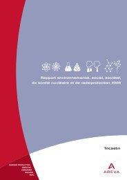 • rapport envir. 2006 - partie 1 - AREVA