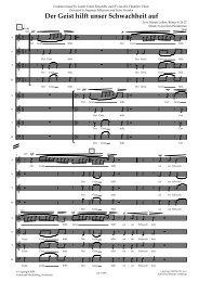 Der Geist hilft unser Schwachheit auf - Gehrmans Musikförlag