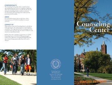 Counseling Center - Syracuse University