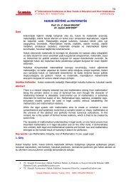 Hukuk Eğitimi ve Matematik - International Conference on New ...