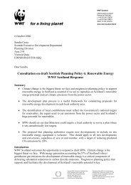 Consultation on draft Scottish Planning Policy 6 ... - WWF UK