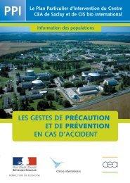 les gestes de précaution et de prévention en cas d ... - CEA Saclay