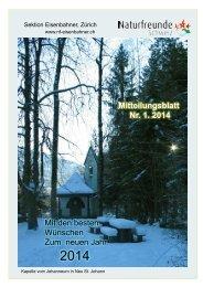 Mitteilungsblatt 1/2014als pdf - Naturfreunde Sektion Eisenbahner