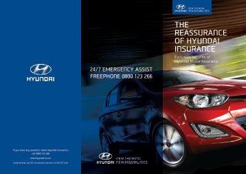THE REASSURANCE OF HYUNDAI INSURANCE - Hyundai NZ