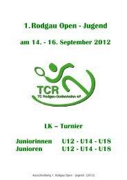 Ausschreibung - TC Kelsterbach