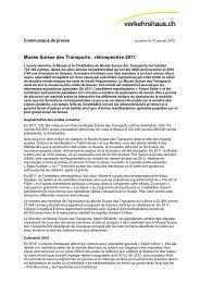 Musée Suisse des Transports : rétrospective 2011