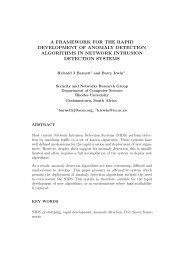 a framework for the rapid development of anomaly detection ... - ICSA
