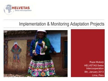 Implementation & Monitoring of Adaptation Projects by Rupa Mukerji