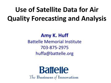 Use of Satellite Data for Air Quality Forecasting and ... - MARAMA