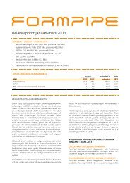 Delårsrapport Q1 2013 - beQuoted AB