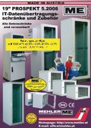 """19"""" Profilschienen - Mehler Elektrotechnik Ges.m.b.H"""