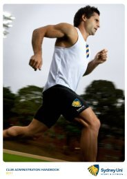 club administration handbook 2011 - Sydney Uni Sport & Fitness