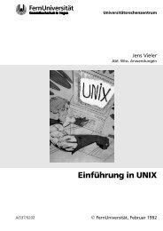 Einführung in UNIX - FernUniversität in Hagen