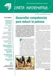 Desarrollar competencias para reducir la pobreza - IIEP - Unesco