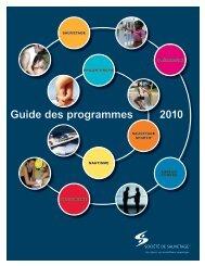 2010 Guide des programmes - Société de sauvetage