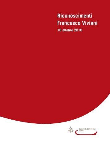 Riconoscimenti Francesco Viviani - Camera di Commercio di Ferrara