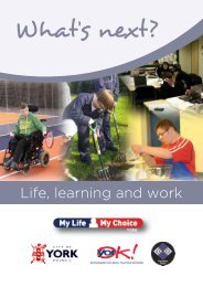 What Next - Life, learning and work - YorOK