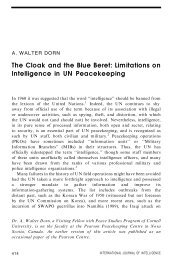 The Cloak and the Blue Beret: Limitations on ... - Dr. Walter Dorn