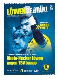 Ausgabe 18 (Saison 2009/2010): TBV Lemgo - Rhein-Neckar Löwen