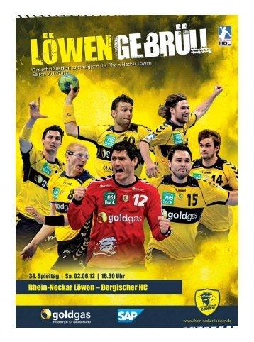 (Saison 2011/2012): Bergischer HC - Rhein-Neckar Löwen