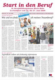 Start in den Beruf - Rhein-Main.Net