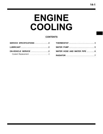 ENGINE COOLING