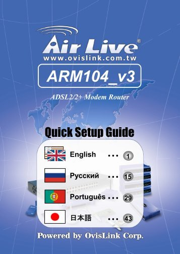 Driver for AirLive ARM-104