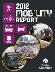 1 2012 mobility report - The Greater Austin Chamber of Commerce